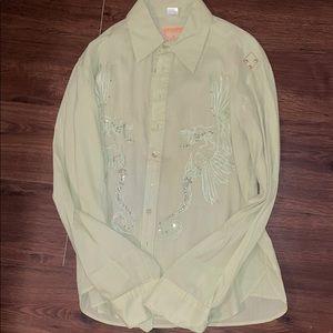 Parasuco denim legend men's green button shirt
